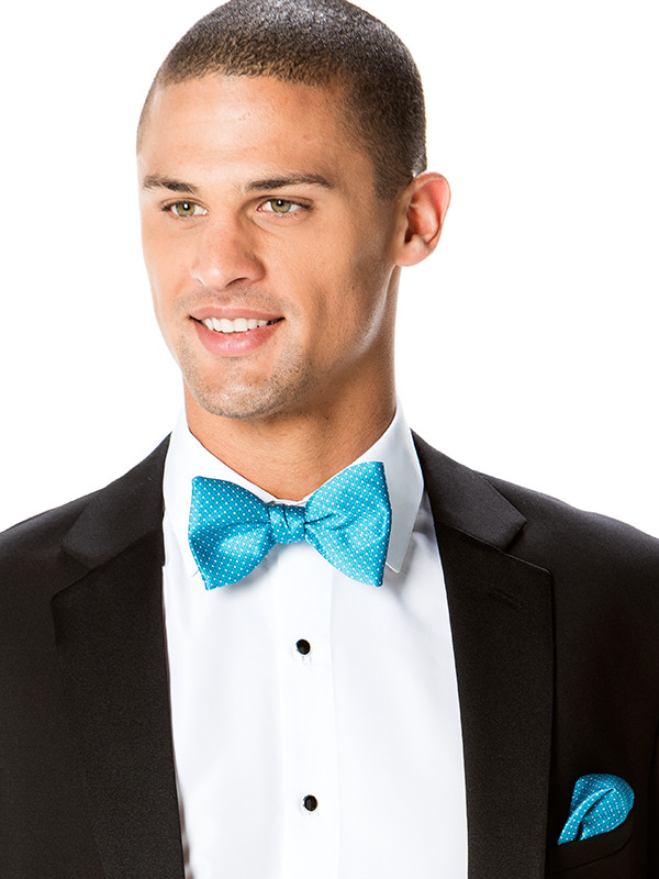 Modern Dot Bow Tie and Pocket Square
