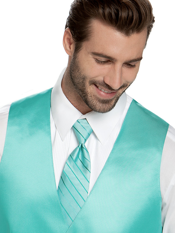 Tonal Stripe Windsor Tie with Modern Solid Vest