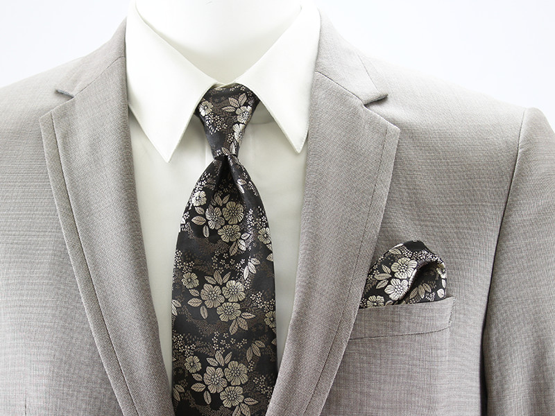 Allure Floral Windsor Tie and Pocket Square